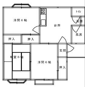 プラザミサオ C201号室 見取図